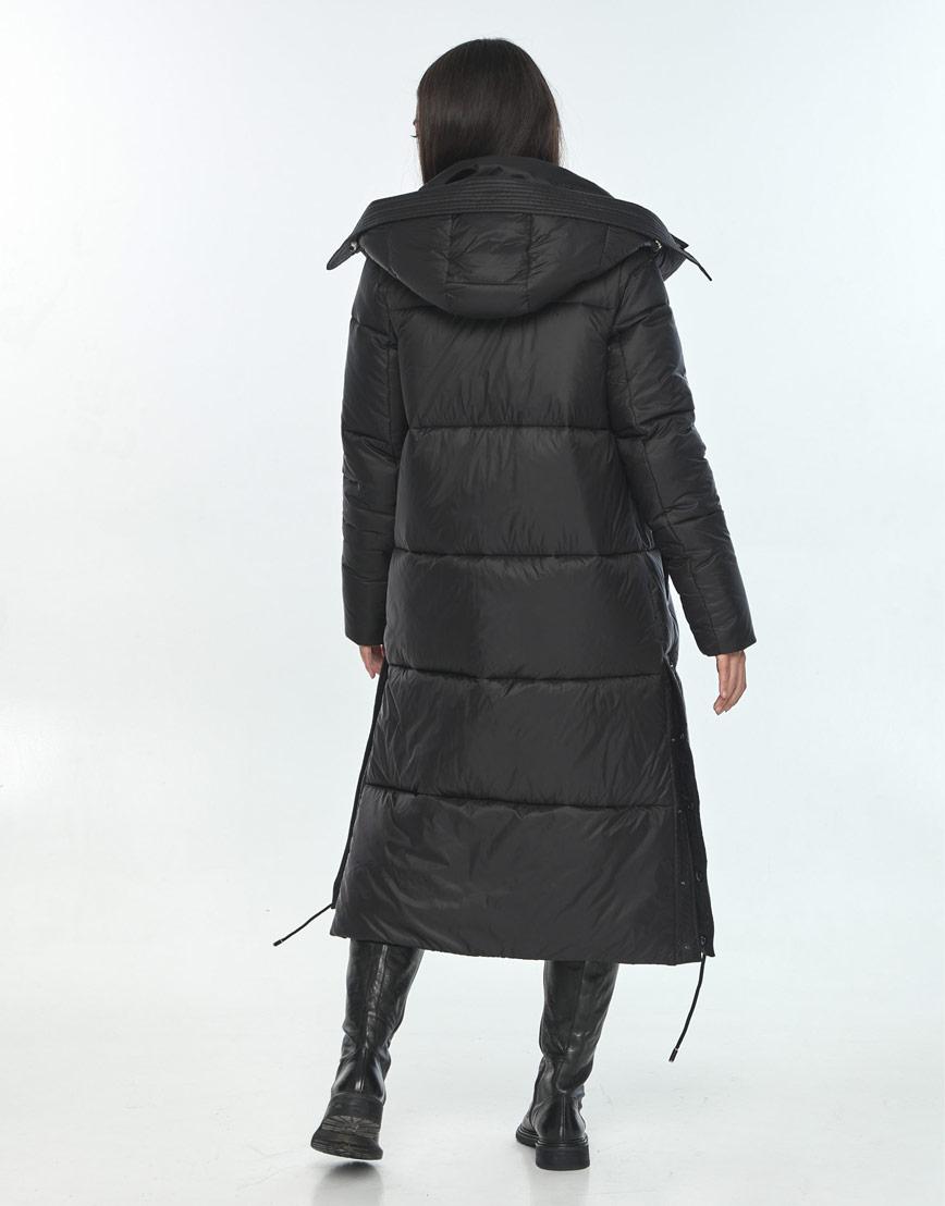 Зимняя чёрная куртка для подростка-девушки удобная Moc M6874 фото 3