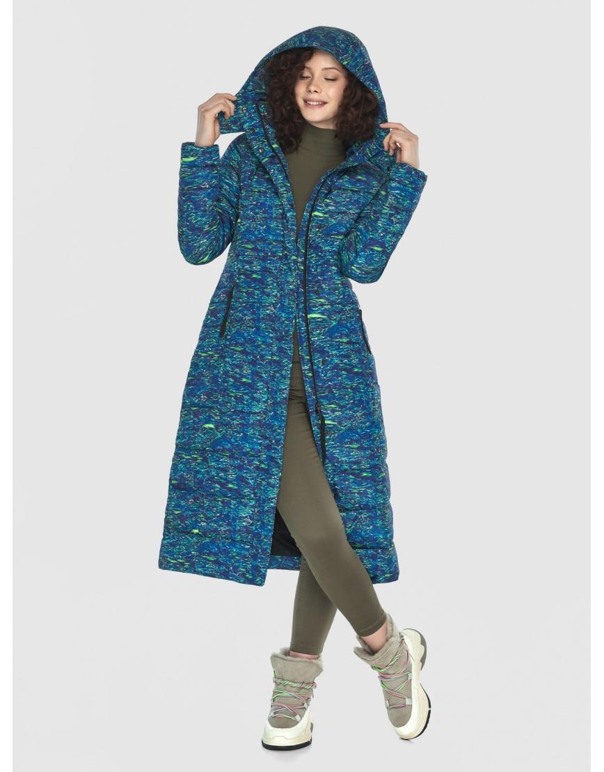Длинная стильная куртка Moc женская с рисунком M6430 фото 6