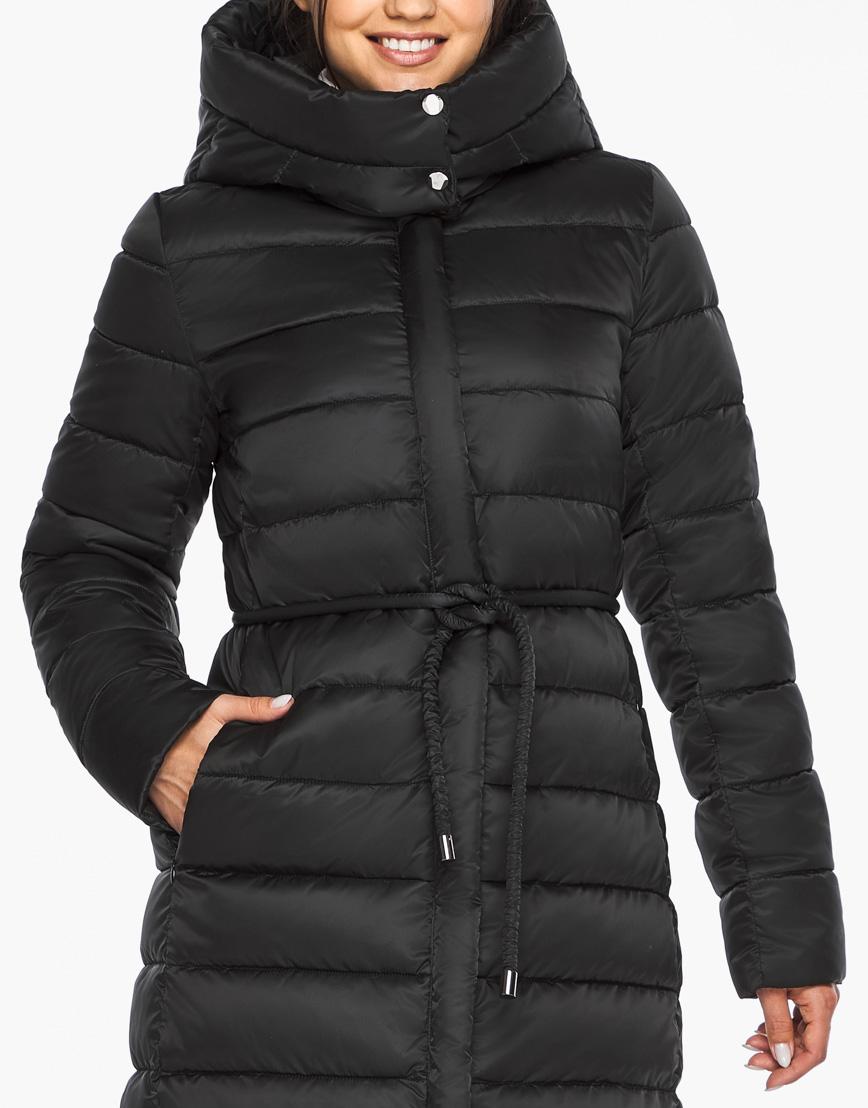 Модный воздуховик Braggart теплый зимний черный женский модель 44860 фото 5