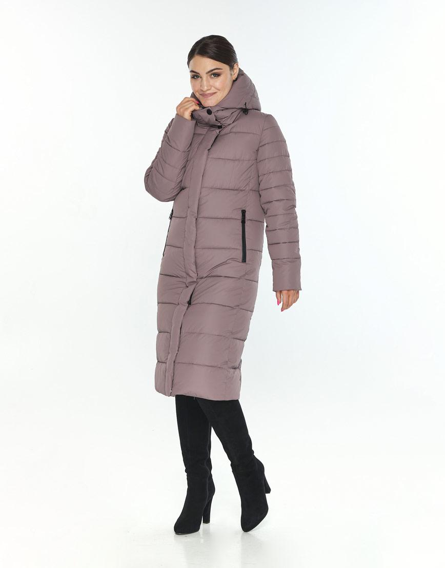 Женская зимняя куртка Wild Club модная цвет пудра 538-74 фото 2