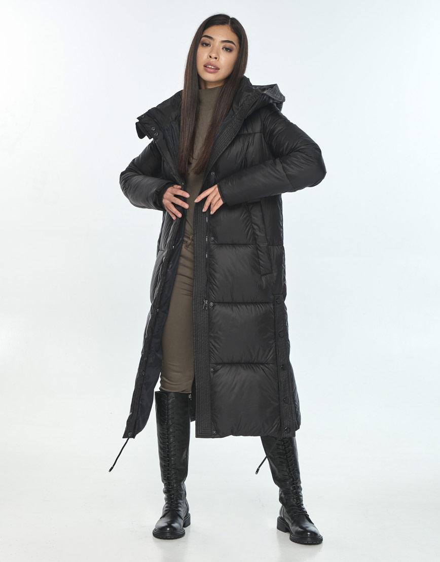 Зимняя чёрная куртка для подростка-девушки удобная Moc M6874 фото 1
