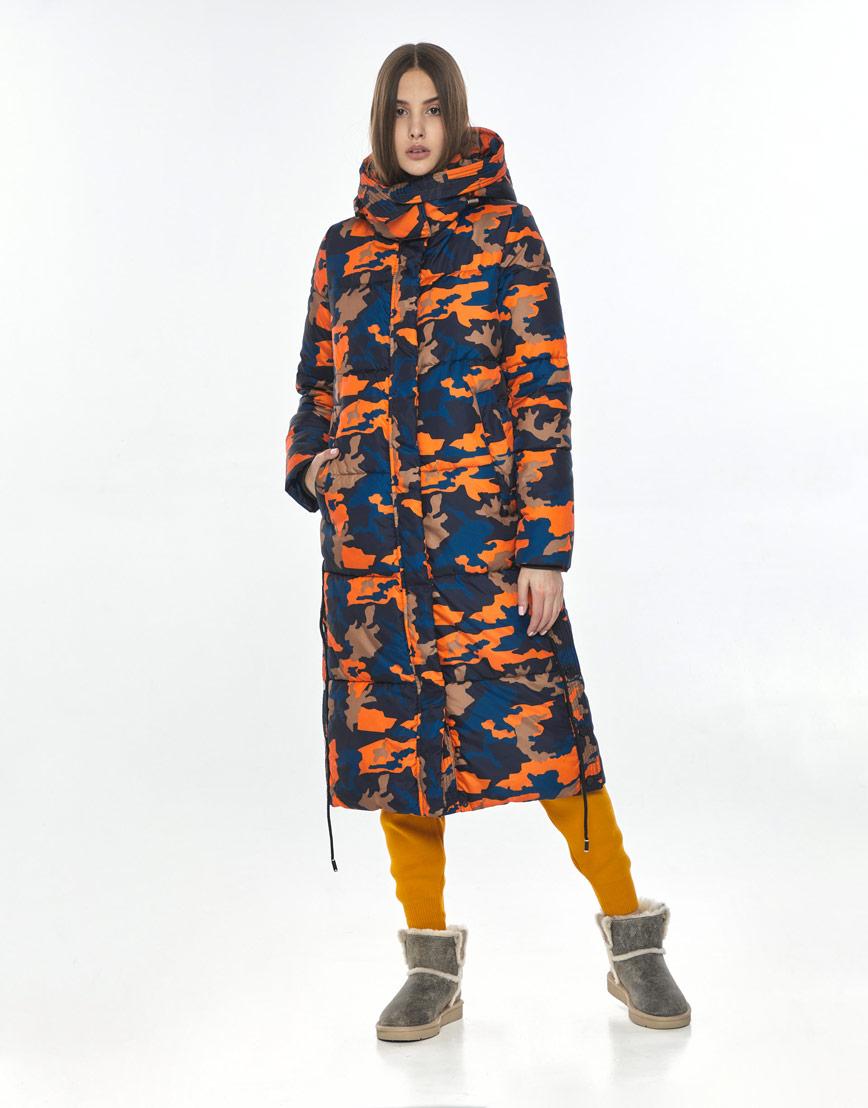 Удобная длинная куртка с рисунком женская Vivacana 7654/21 фото 1