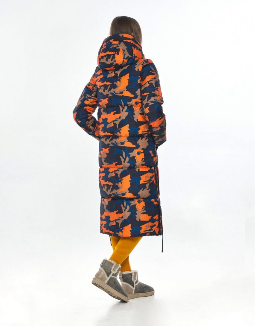 Удобная длинная куртка с рисунком женская Vivacana 7654/21 фото 3