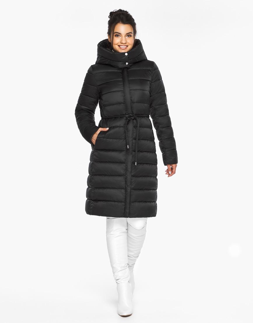 Модный воздуховик Braggart теплый зимний черный женский модель 44860 фото 3