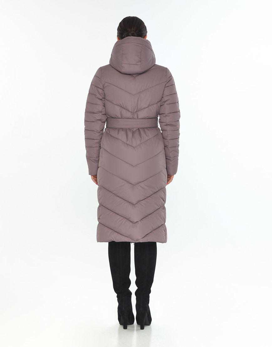 Женская зимняя куртка Wild Club модная цвет пудра 538-74 фото 3