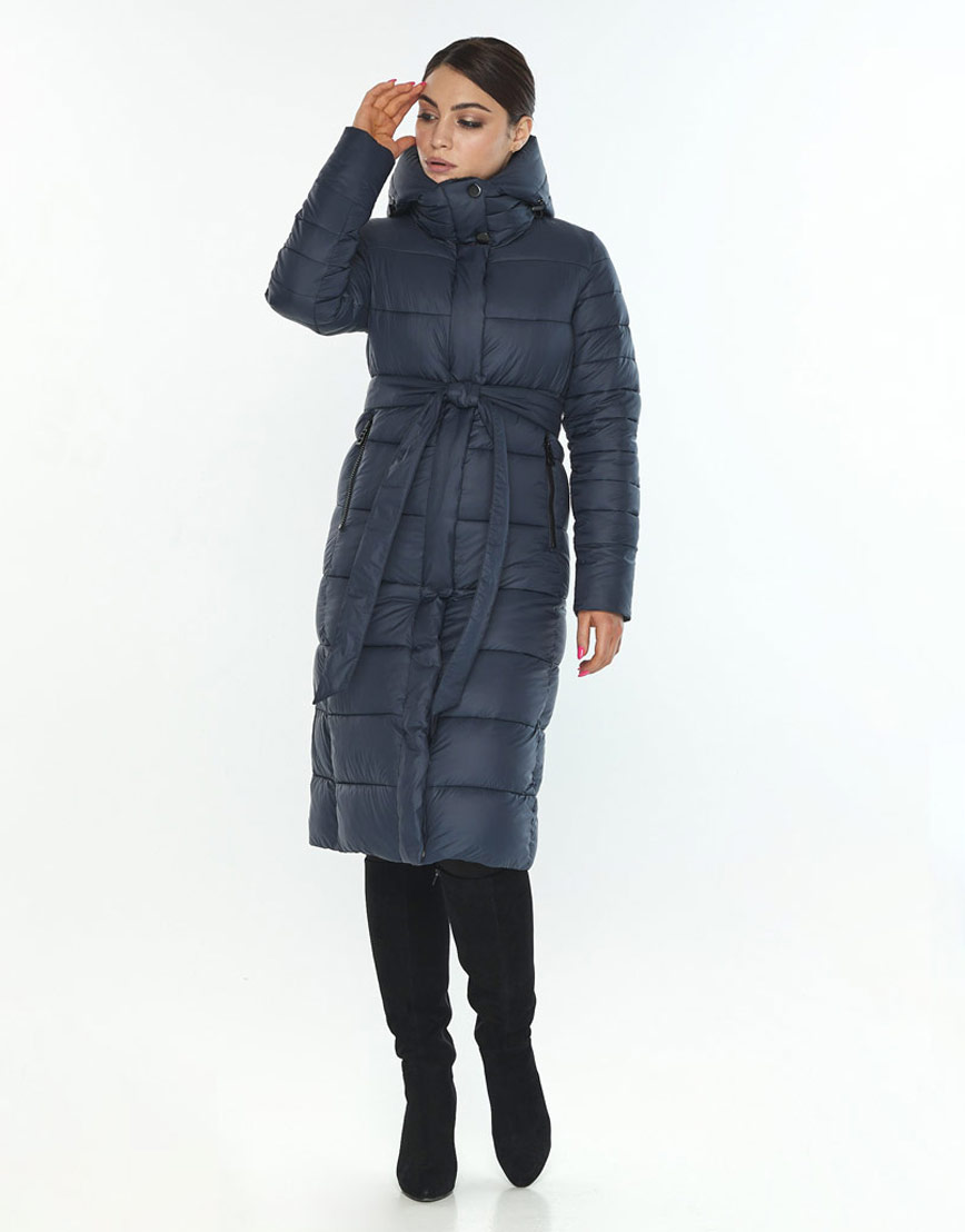 Женская куртка комфортная зимняя Wild Club цвет синий 538-74 фото 1