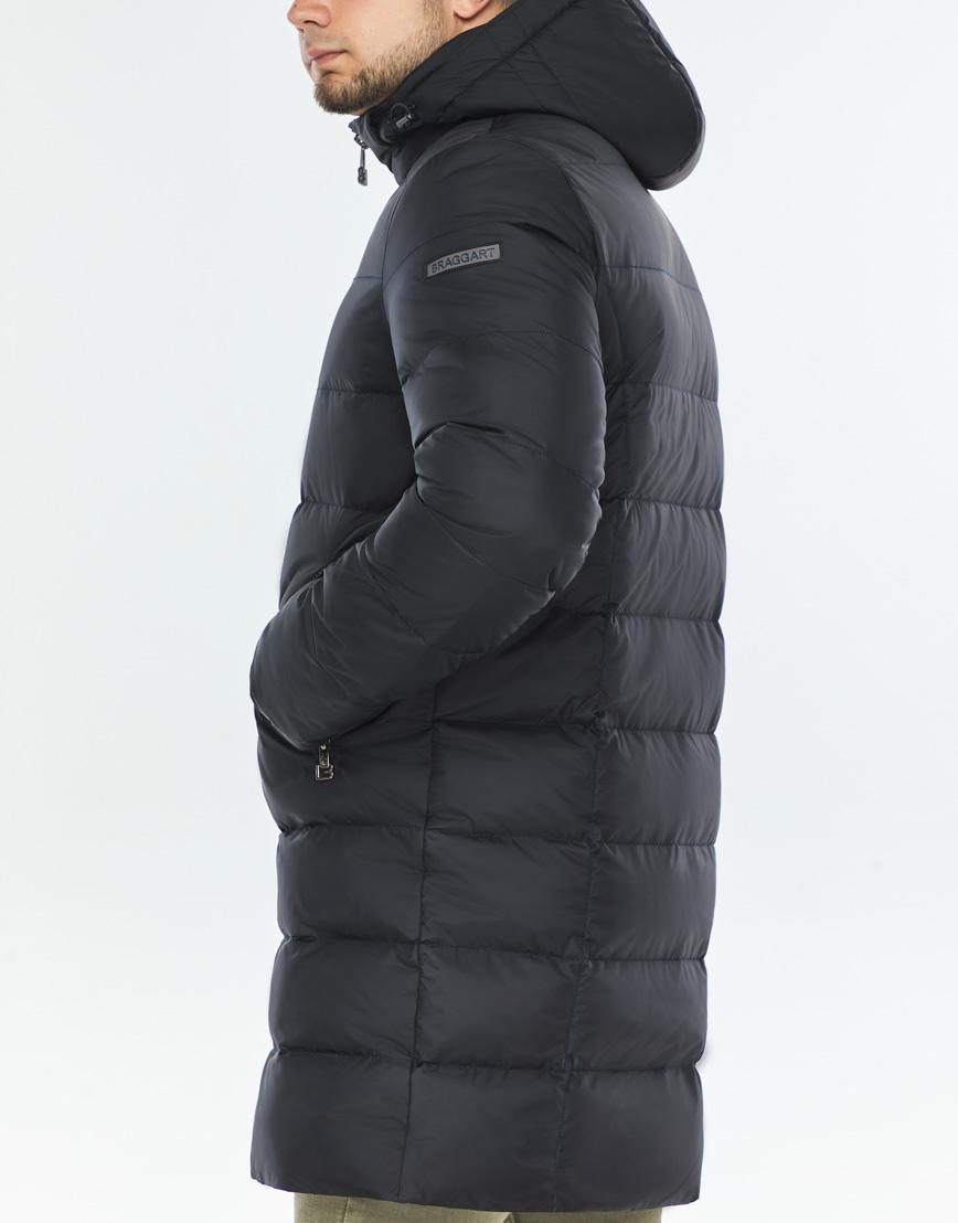 Практичная темно-синяя куртка качественного пошива модель 42110 фото 6