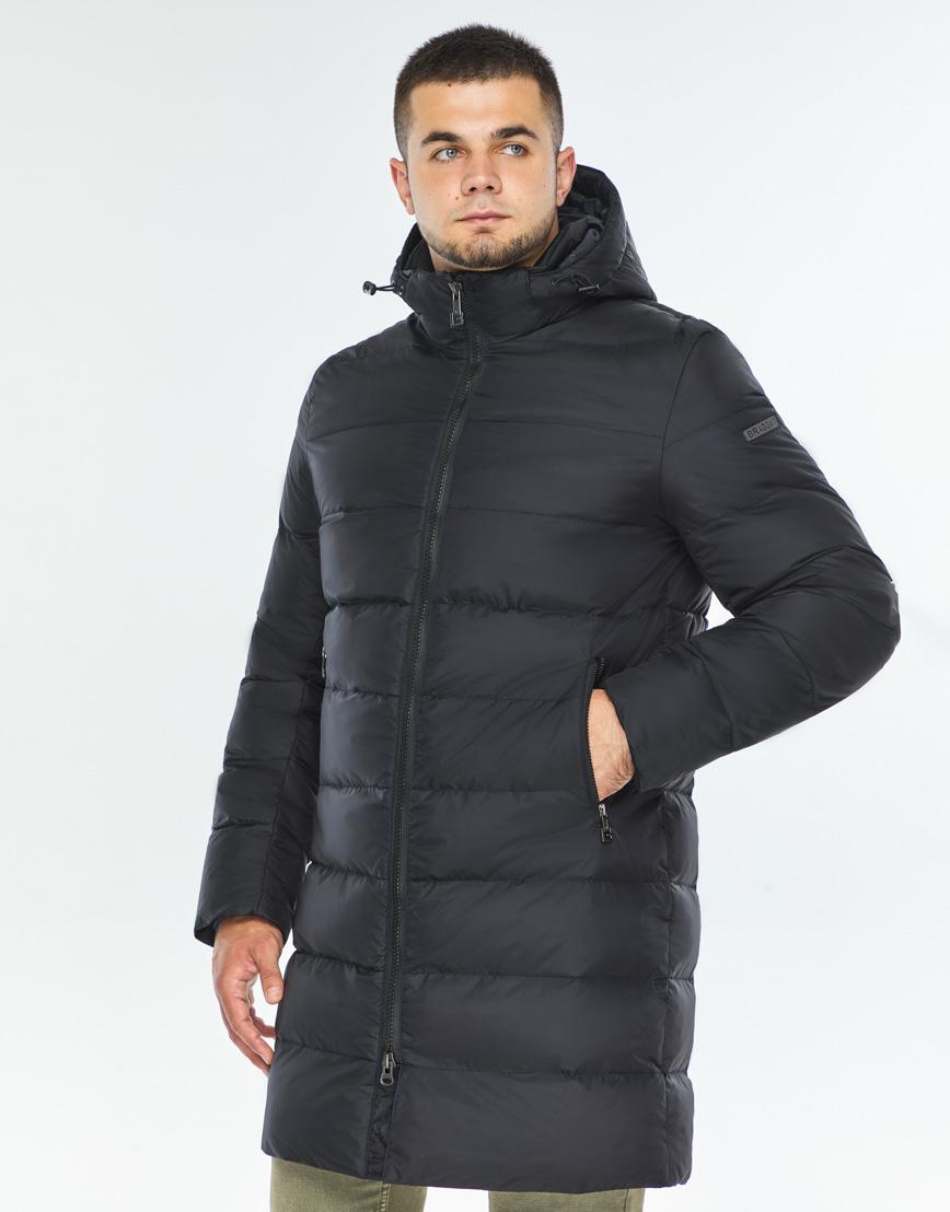 Практичная темно-синяя куртка качественного пошива модель 42110 фото 3