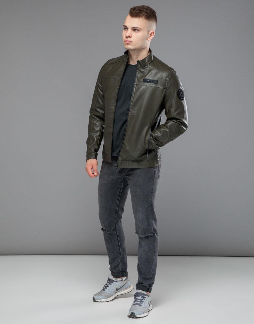 Осенне-весенняя легкая куртка цвета хаки модель 25825 фото 2