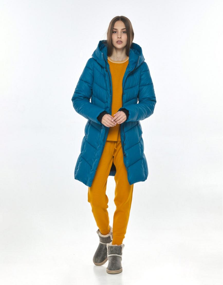 Трендовая аквамариновая куртка женская Vivacana 7821/21 фото 2