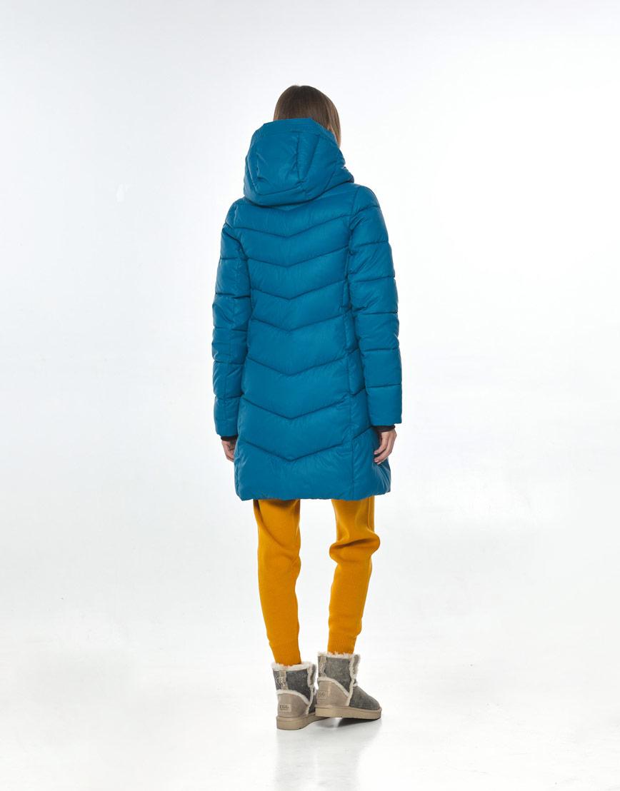 Трендовая аквамариновая куртка женская Vivacana 7821/21 фото 3