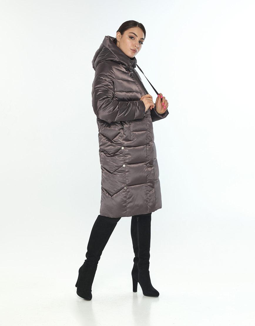 Удобная куртка большого размера женская Wild Club цвет капучино 541-94 фото 1