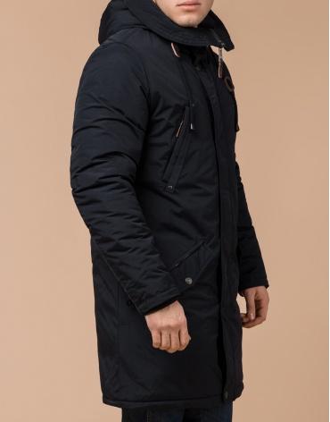 Зимняя черно-синяя парка мужская модель 13620 оптом
