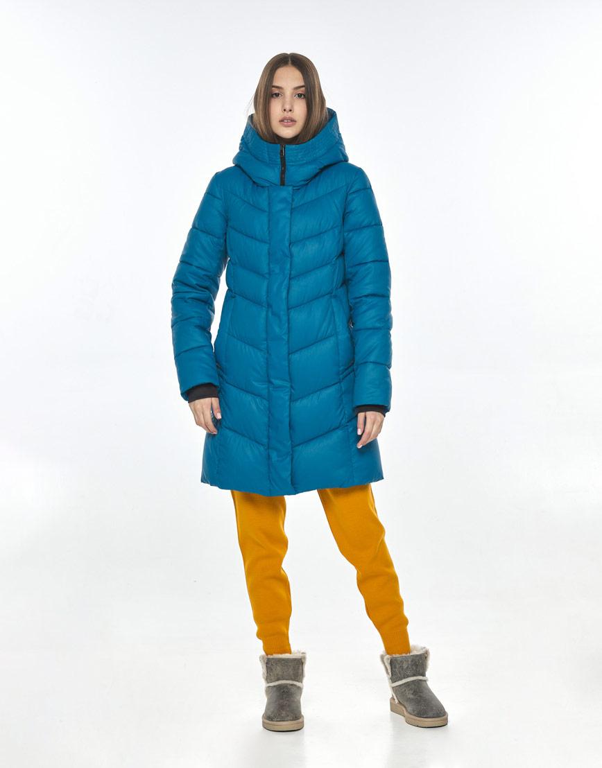 Трендовая аквамариновая куртка женская Vivacana 7821/21 фото 1