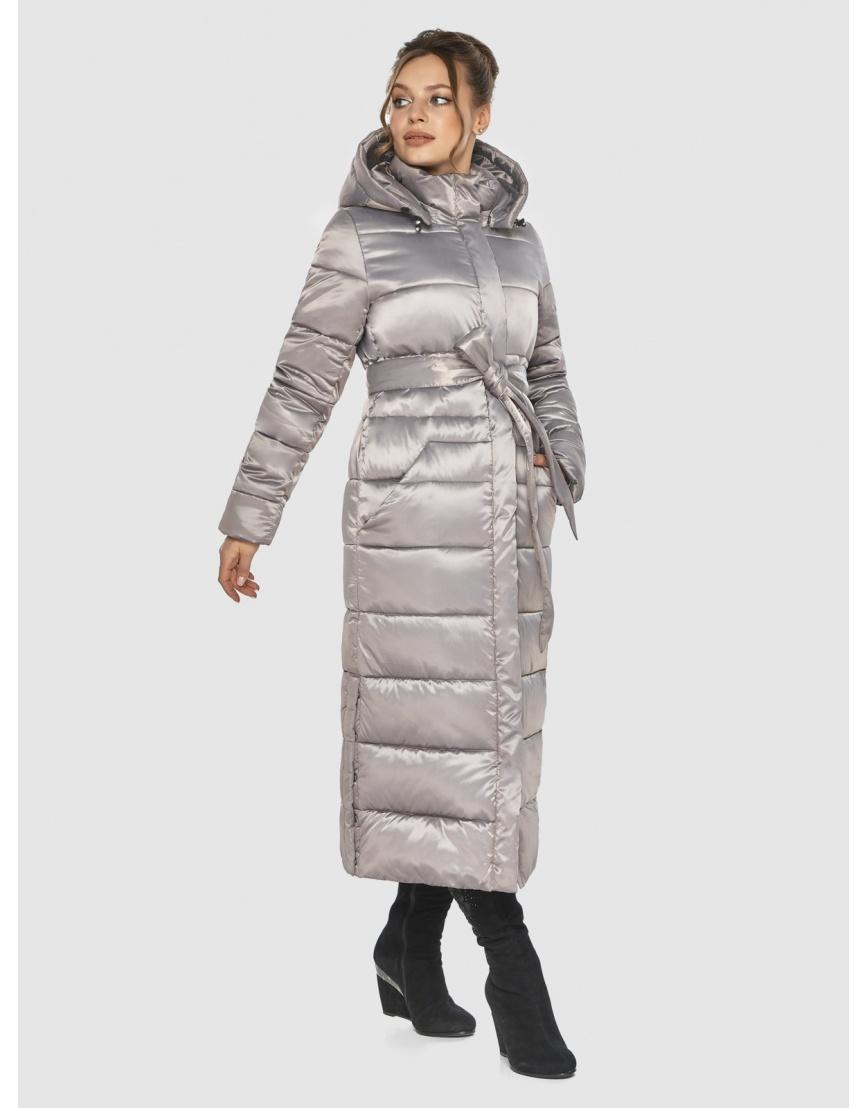 Кварцевая женская удлинённая куртка-пальто Ajento 21207 фото 5
