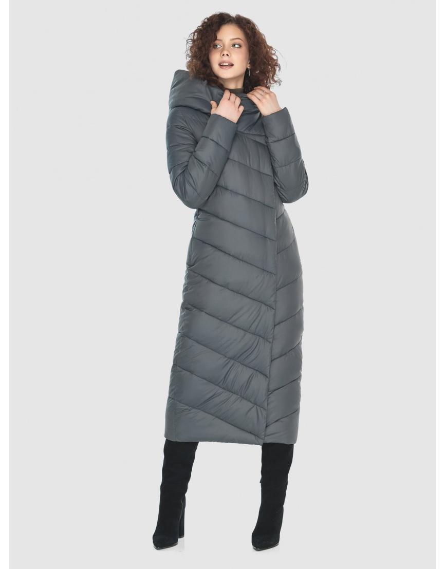 Стильная женская куртка Moc серая M6471 фото 2