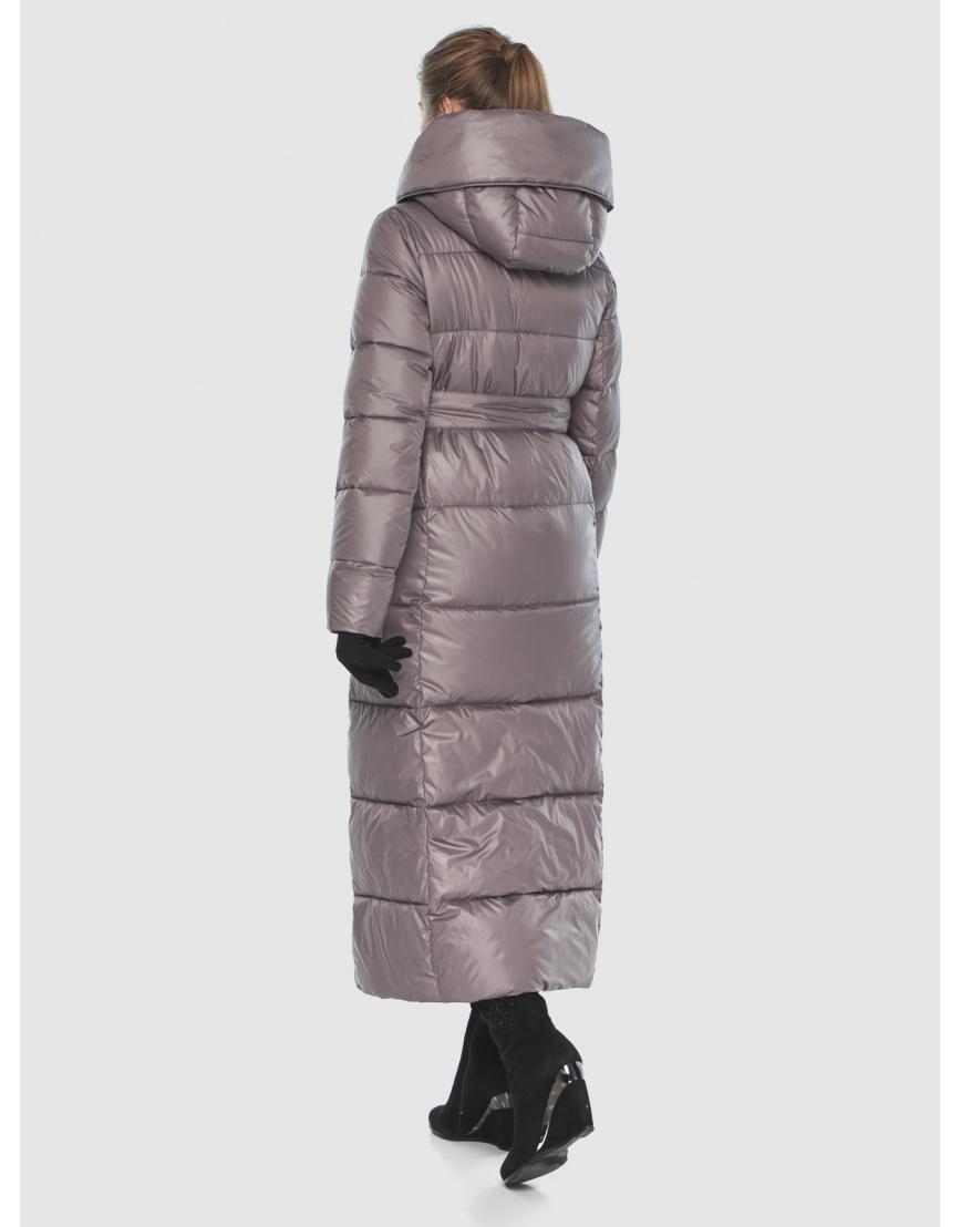 Подростковая пудровая брендовая зимняя куртка Ajento 22356 фото 4
