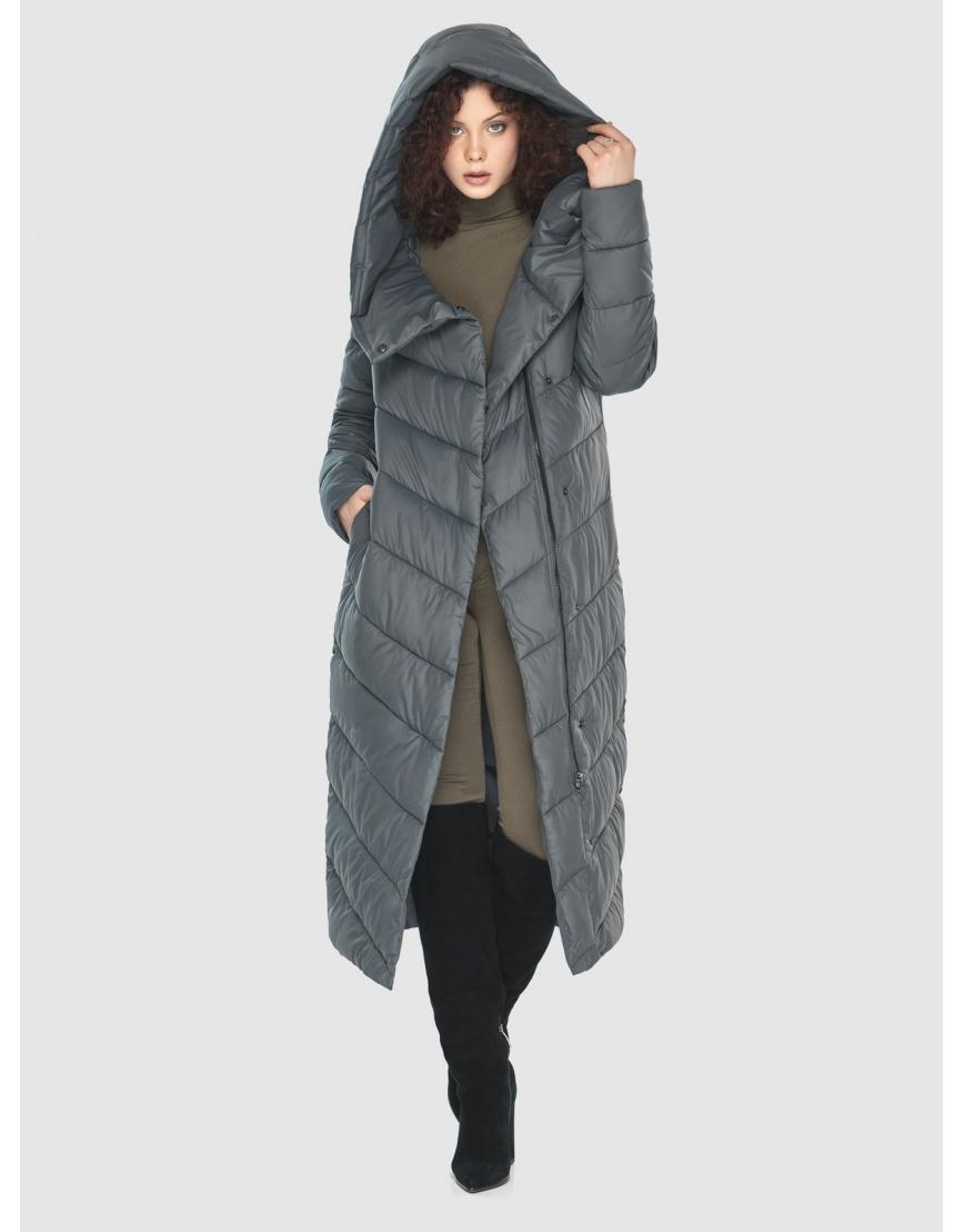 Стильная женская куртка Moc серая M6471 фото 6