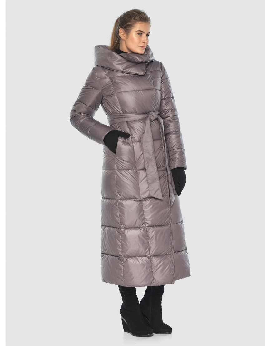 Подростковая пудровая брендовая зимняя куртка Ajento 22356 фото 1