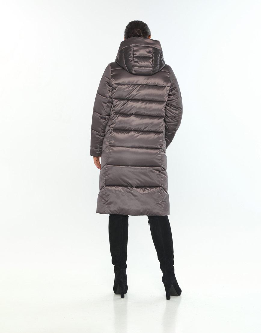 Удобная куртка большого размера женская Wild Club цвет капучино 541-94 фото 3