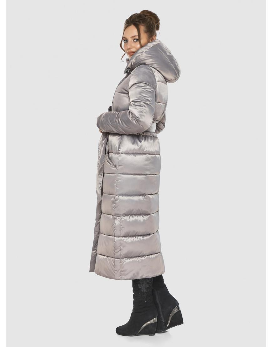 Кварцевая женская удлинённая куртка-пальто Ajento 21207 фото 3