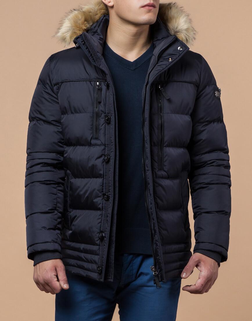 Куртка высококачественная темно-синяя модель 45610 фото 1