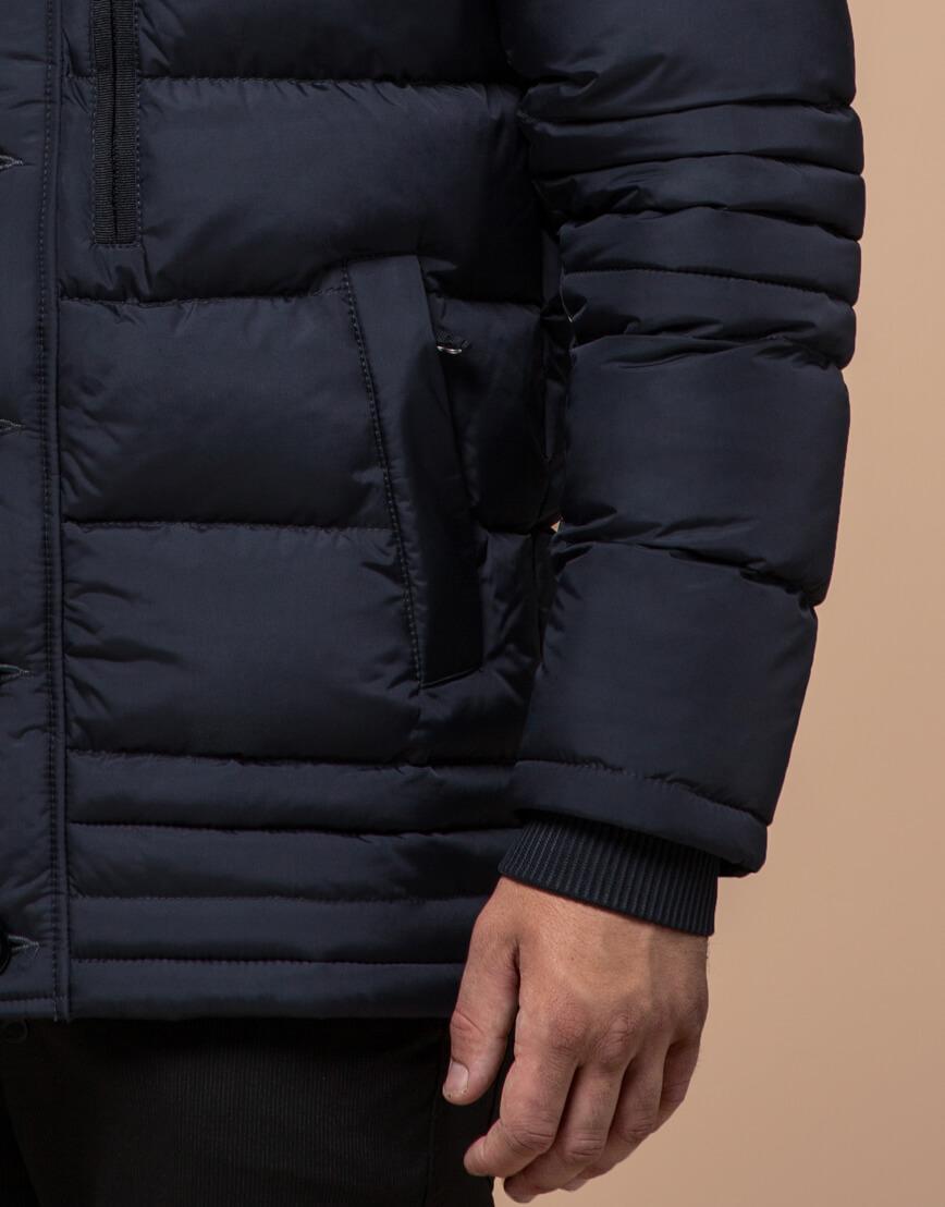 Куртка высококачественная темно-синяя модель 45610 фото 5
