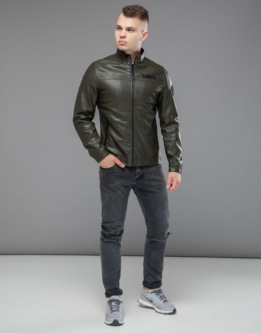 Осенне-весенняя легкая куртка цвета хаки модель 25825 фото 1