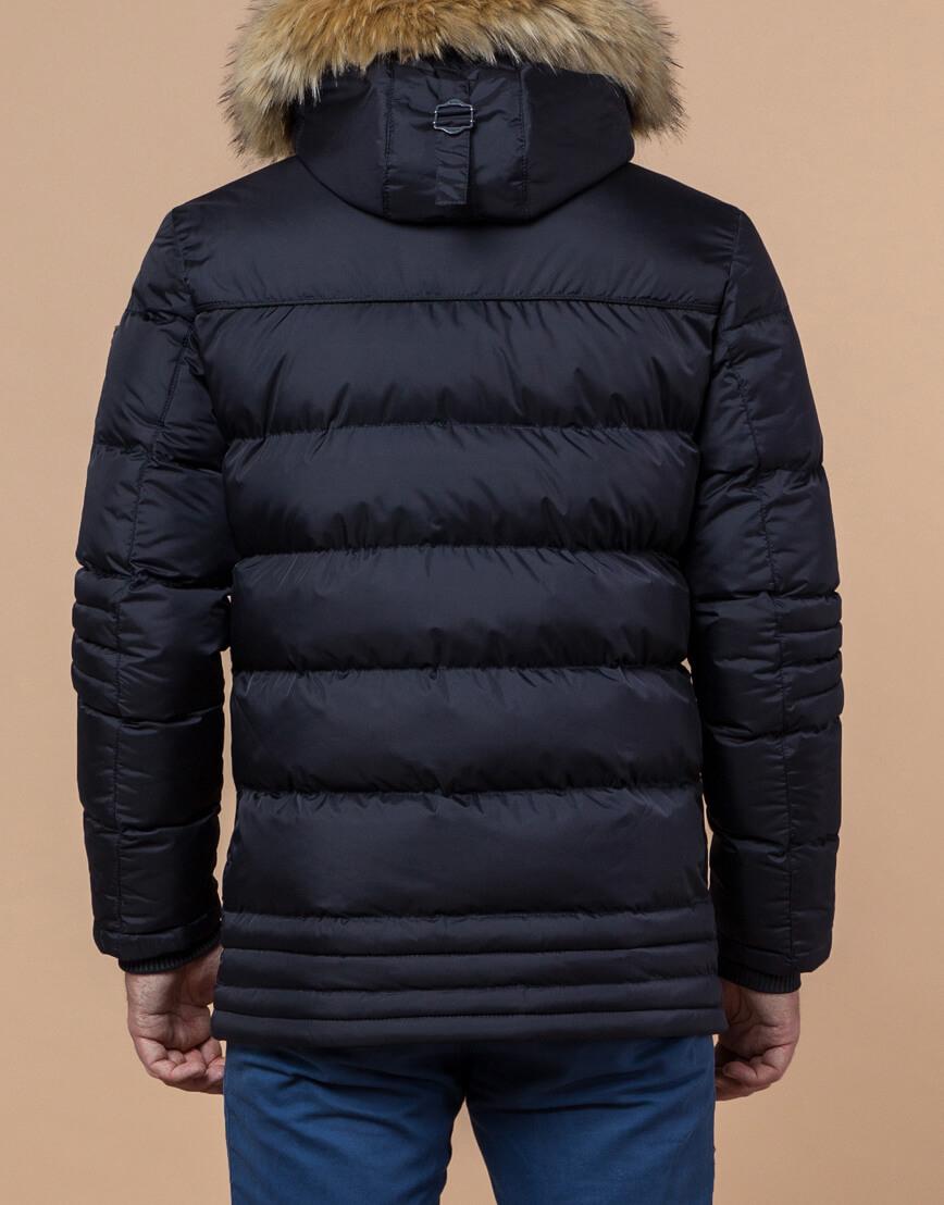 Куртка высококачественная темно-синяя модель 45610 фото 3