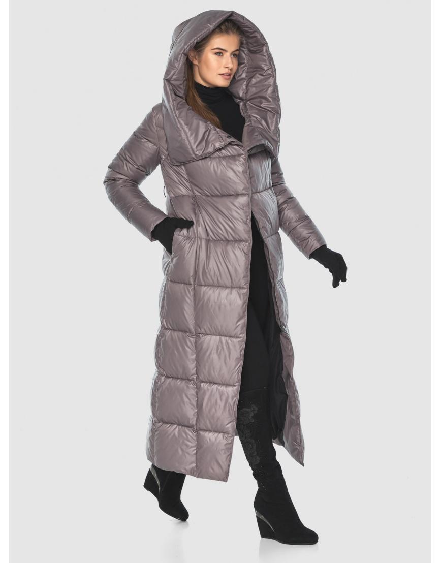 Подростковая пудровая брендовая зимняя куртка Ajento 22356 фото 6