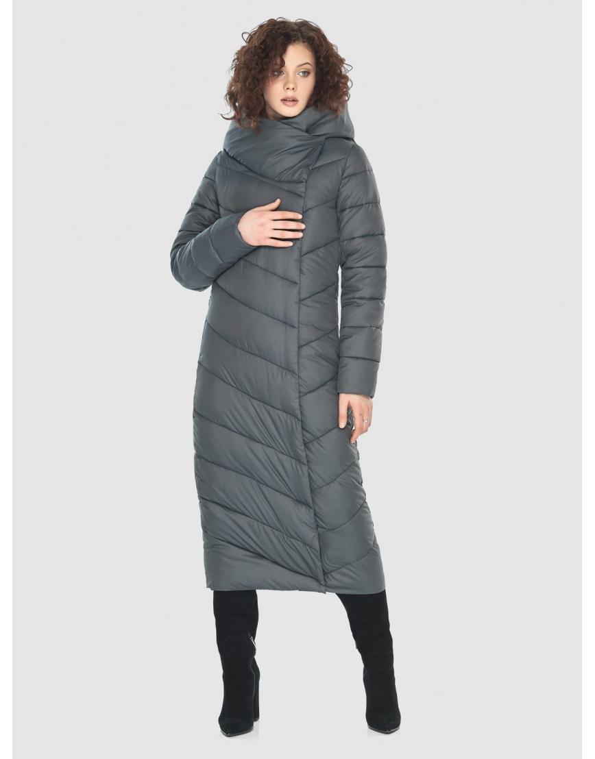 Стильная женская куртка Moc серая M6471 фото 5