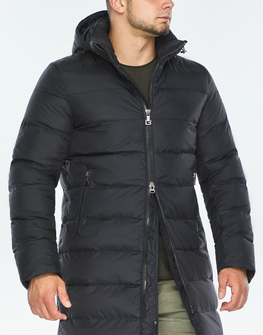 Практичная темно-синяя куртка качественного пошива модель 42110 фото 5
