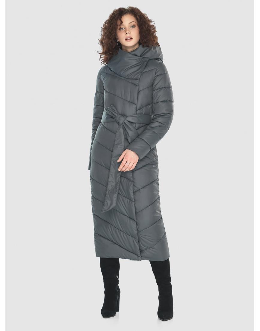Стильная женская куртка Moc серая M6471 фото 3