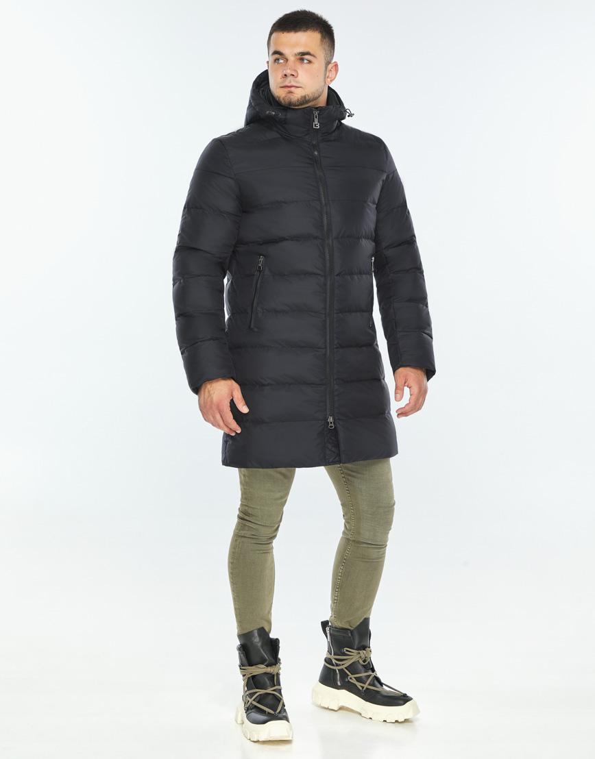 Практичная темно-синяя куртка качественного пошива модель 42110 фото 2