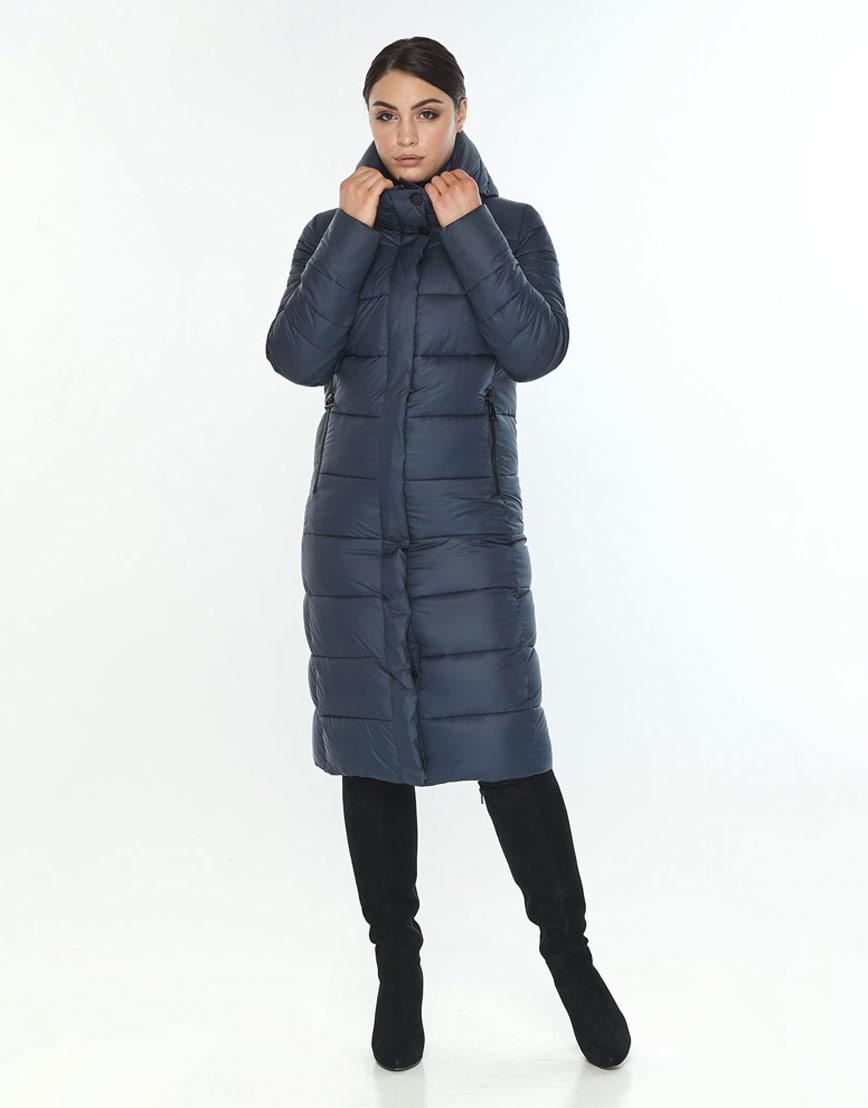 Женская куртка комфортная зимняя Wild Club цвет синий 538-74 фото 2