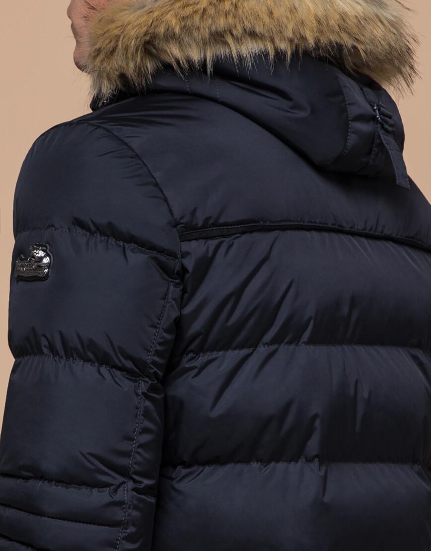 Куртка высококачественная темно-синяя модель 45610 фото 6