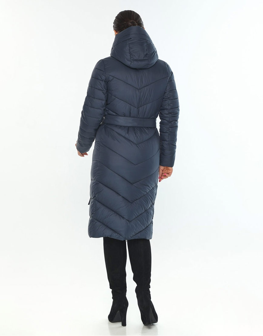 Женская куртка комфортная зимняя Wild Club цвет синий 538-74 фото 3