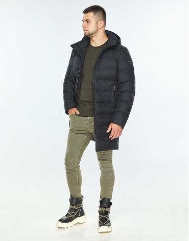 Практичная темно-синяя куртка качественного пошива модель 42110 фото 1