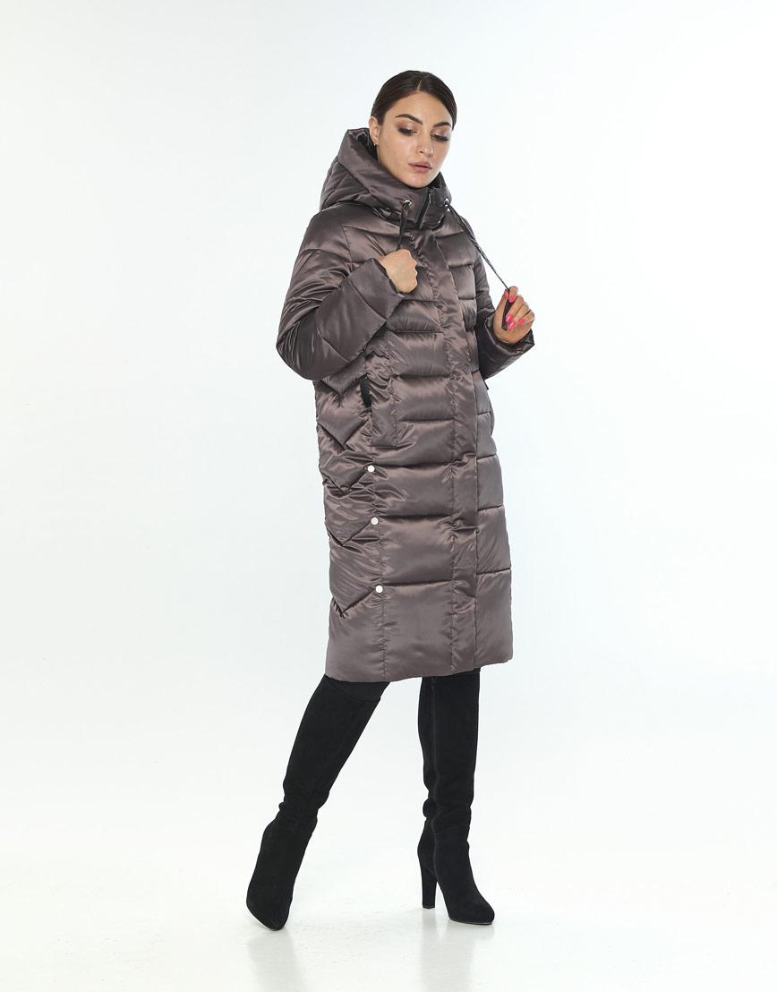 Удобная куртка большого размера женская Wild Club цвет капучино 541-94 фото 2