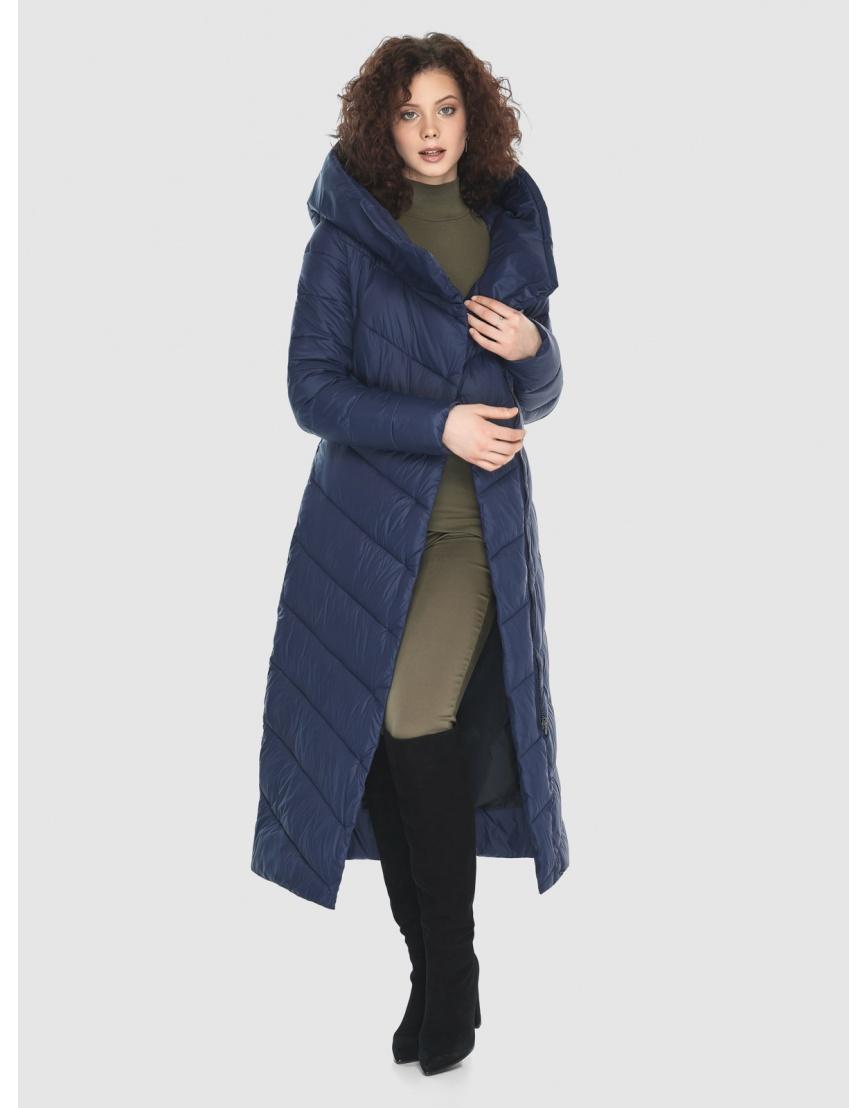 Синяя длинная куртка Moc женская тёплая M6471 фото 6