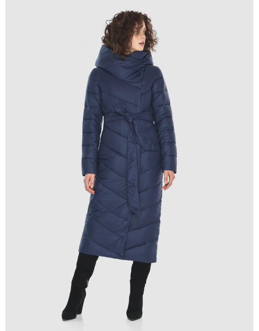 Синяя длинная куртка Moc женская тёплая M6471 фото 5