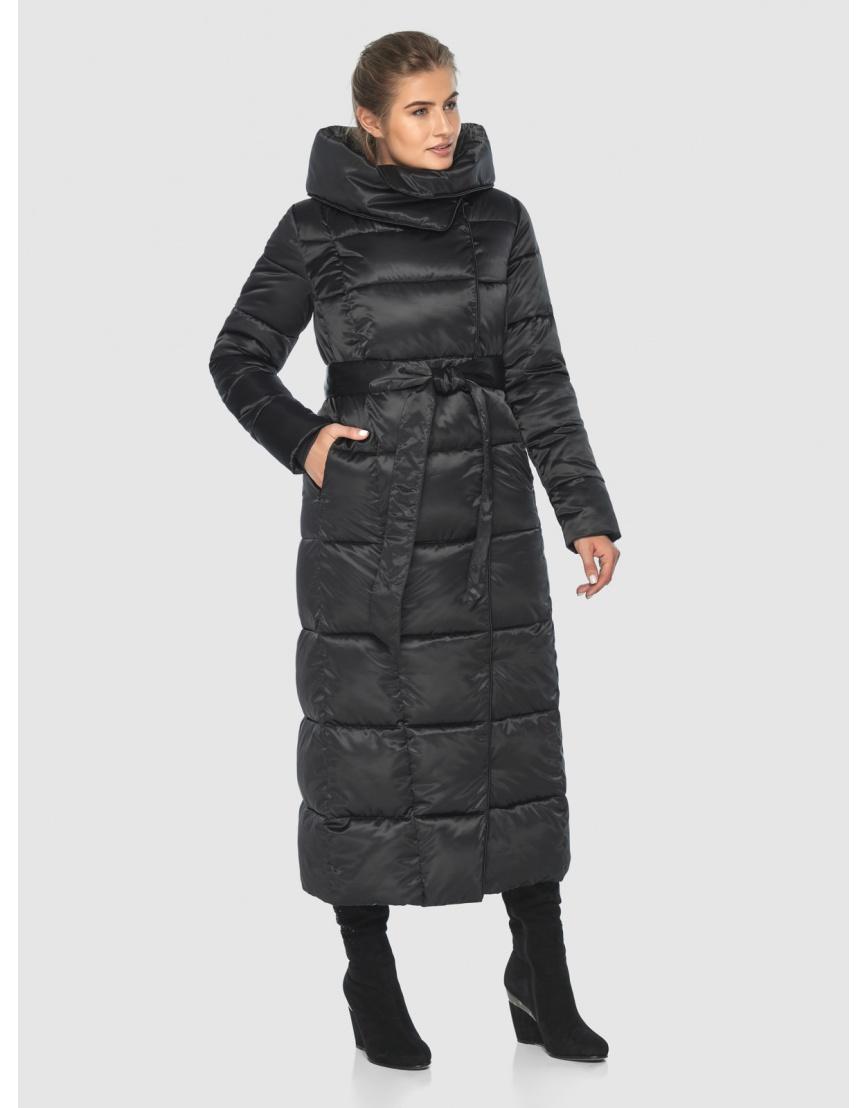 Чёрная подростковая комфортная куртка зимняя Ajento 22356 фото 3
