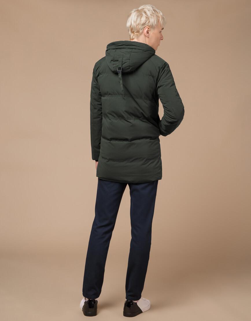 Темно-зеленая зимняя куртка фирменная модель 25400 фото 4