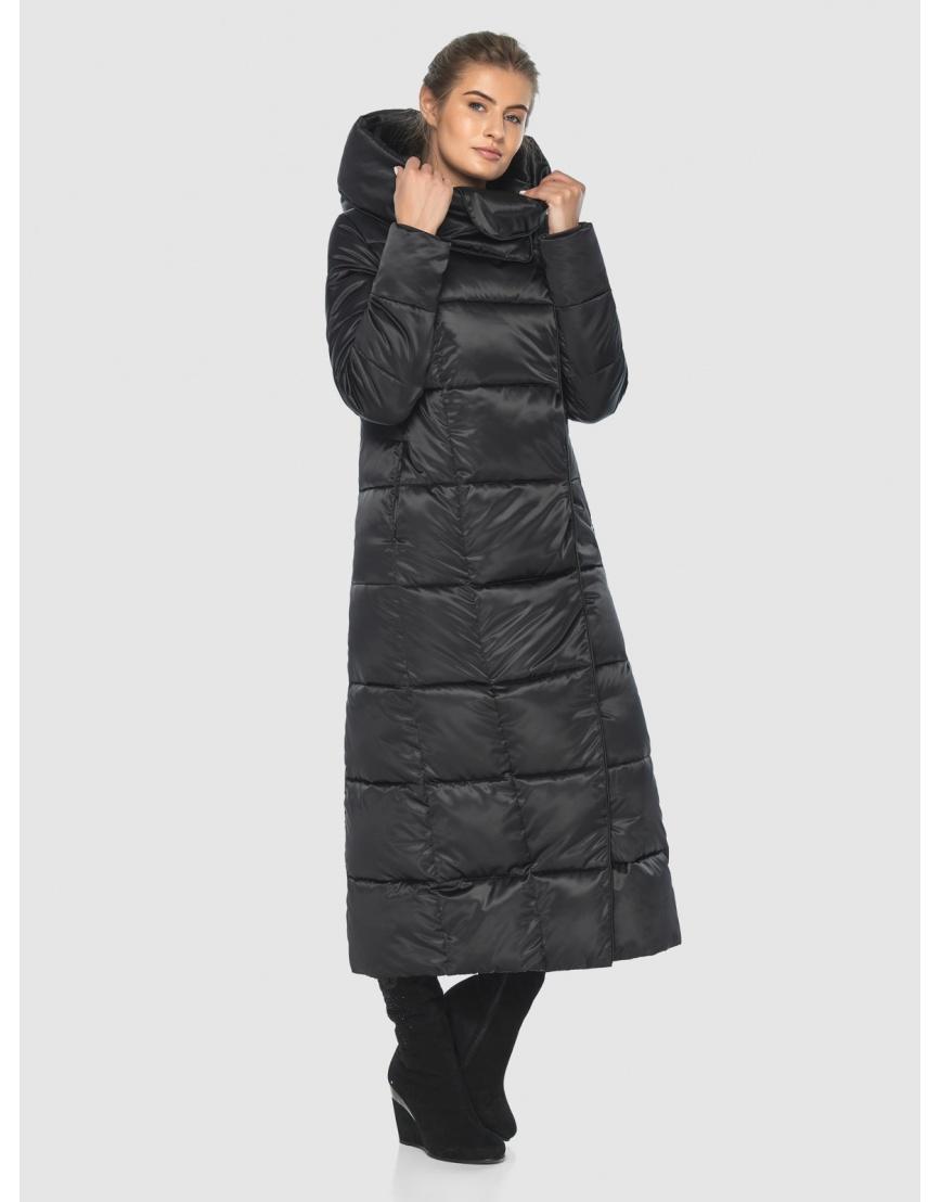 Чёрная подростковая комфортная куртка зимняя Ajento 22356 фото 2