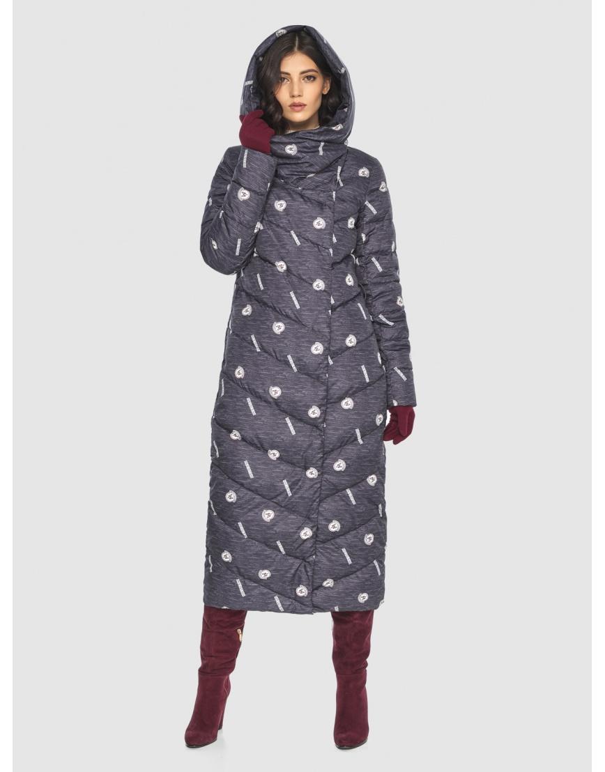 Тёплая куртка с рисунком зимняя Vivacana для подростков-девушек 9405/21 фото 5