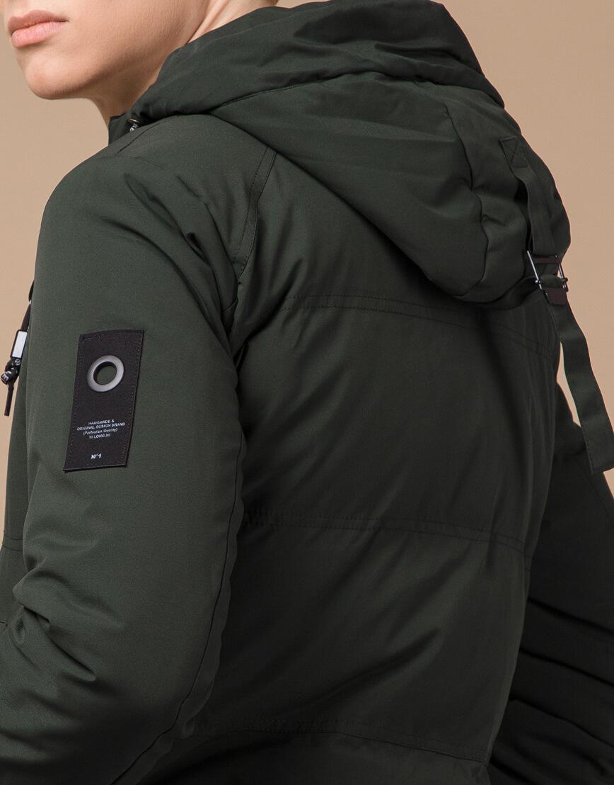 Темно-зеленая зимняя куртка фирменная модель 25400 фото 7