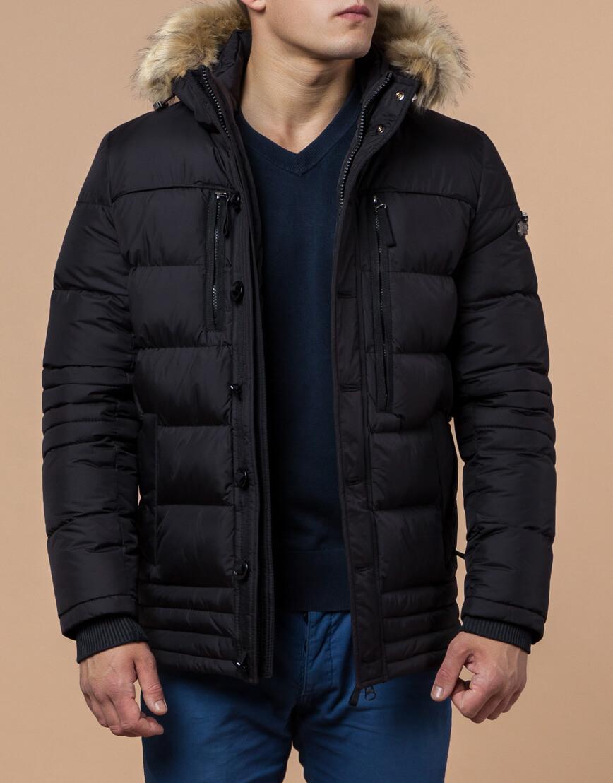 Черная зимняя модная куртка модель 45610 фото 1