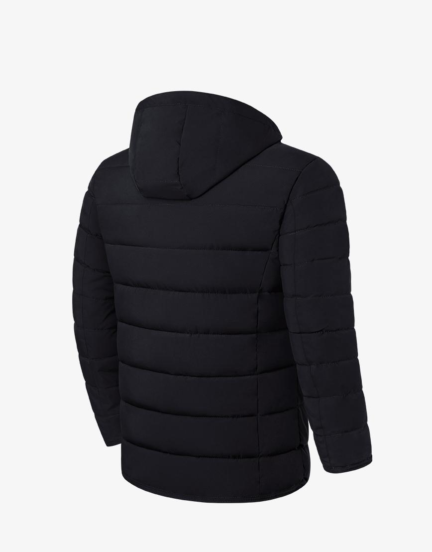 Куртка практичная зимняя черная модель 1706 фото 2