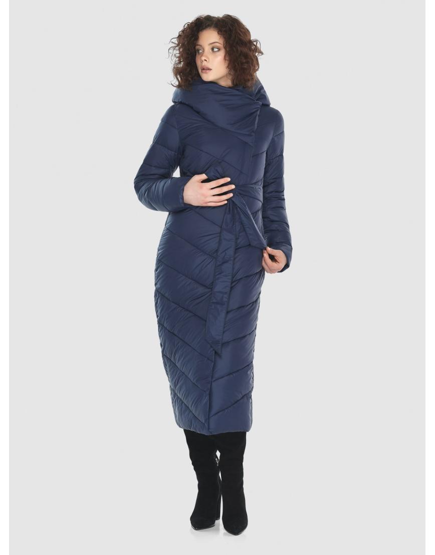 Синяя длинная куртка Moc женская тёплая M6471 фото 2