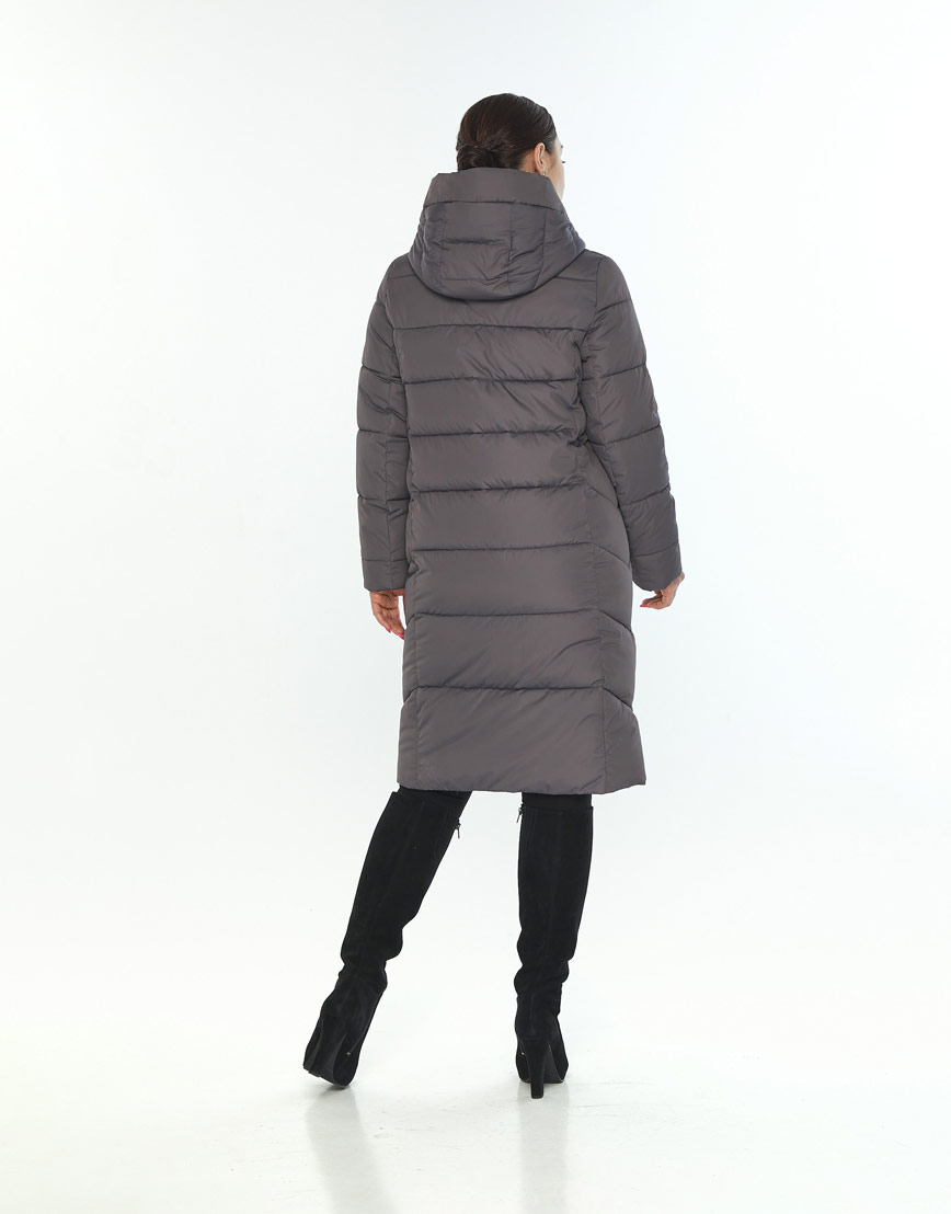 Серая фирменная женская куртка Wild Club зимняя 541-94 фото 3